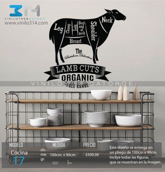 16 best images about vinilos pra cocina on pinterest 14 frases and cafeterias - Decoracion carnicerias ...