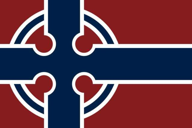 Nordic Flags With Celtic Crosses In 2020 Celtic Cross Nordic Flag