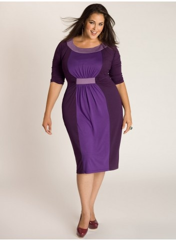 Curvalicious Clothes :: Plus Size Dresses...purple, the new neutral and the lighter in the middle of the dress trend...perfect~