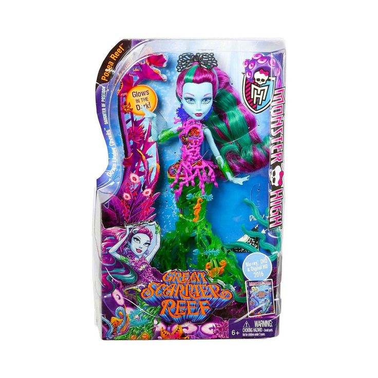 Monster High Posea Reef Doll Great Scarrier Reef Down Under Ghouls NEW