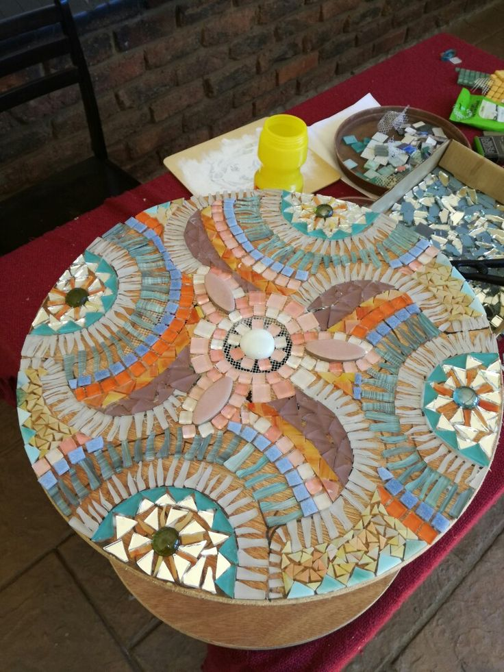 Cable reel table before the grout