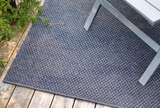 MORUM in/outdoor dark grey rug with anti-slip for increased safety and comfort