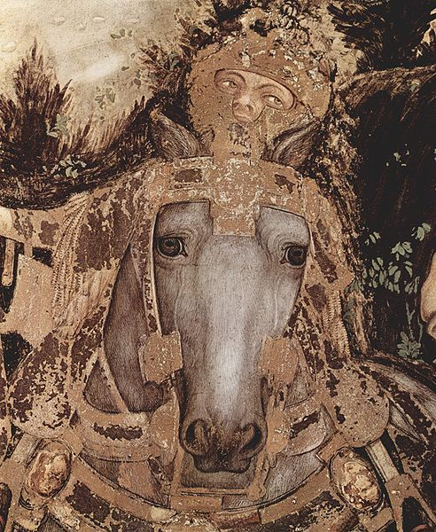 'St. George and the Princess' (detail with horse). Pisanello (c. 1395 – probably 1455), known professionally as Antonio di Puccio Pisano or Antonio di Puccio da Cereto, also erroneously called Vittore Pisano by Giorgio Vasari, was one of the most distinguished painters of the early Italian Renaissance and Quattrocento. He was acclaimed by poets such as Guarino da Verona and praised by humanists of his time who compared him to such illustrious names as Cimabue, Phidias and Praxiteles.