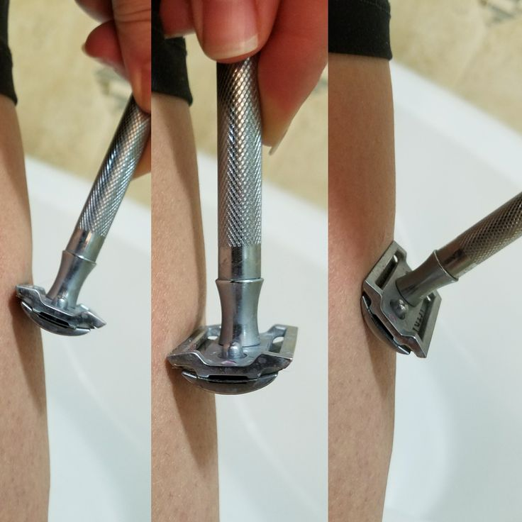 How to use a safety razor and not get cut. Maintain proper blade angle.