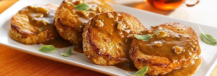 Côtelettes de porc marinées à l'érable et aux fines herbes sur Wikibouffe