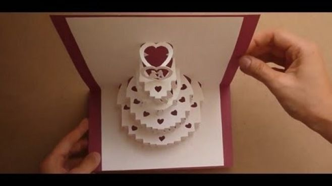 Kağıt Sanatı - Düğün Pasta Yapımı - Kağıtlar ile yapma dersleri - teknikleri, örnekleri ve ipuçlarını videolu anlatımı