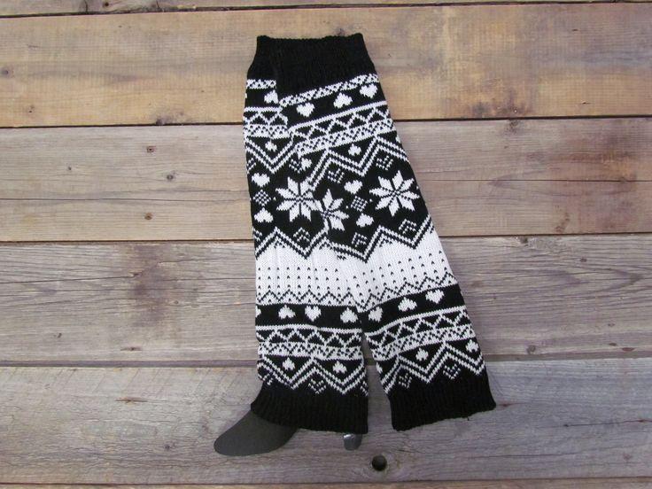 Black Snowflake Leg Warmers
