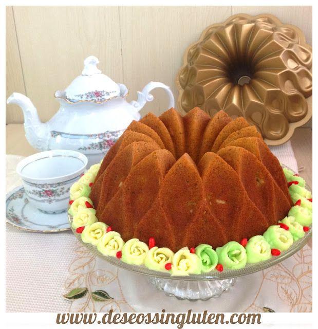 Deseos Sin Gluten: BUNDT CAKE DE PISTACHOS Y PIÑONES SIN GLUTEN