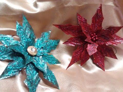 DIY Flor de Nochebuena con latas / Poinsettia Flower from aluminum cans