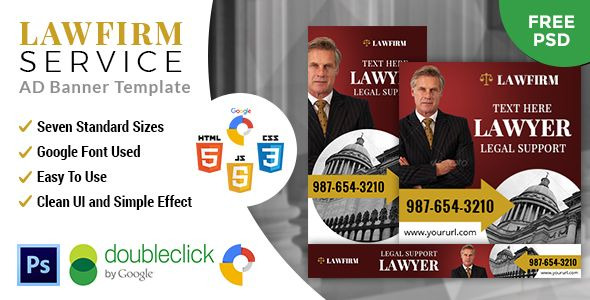 Lawfirm | HTML 5 GWD Animated Google Banner - CodeCanyon Item for Sale