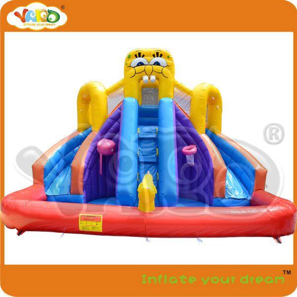 Trouver plus Jeux Gonflables Informations sur Spongebob toboggan avec piscine gonflable, commercial videurs gonflables livraison gratuite, jouets gonflables, gonflable pvc jouets, de haute qualité l'eau pa, l'eau hcl Chine Fournisseurs, pas cher toboggan parc de Yard Inflatable Manufacture (Guangzhou) Co., Ltd. sur Aliexpress.com