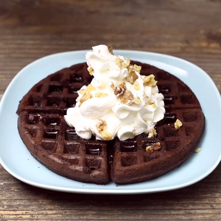 Have some decadent dessert for Breakfast with a Waffle Brownie!
