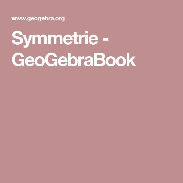 Symmetrie - GeoGebraBook