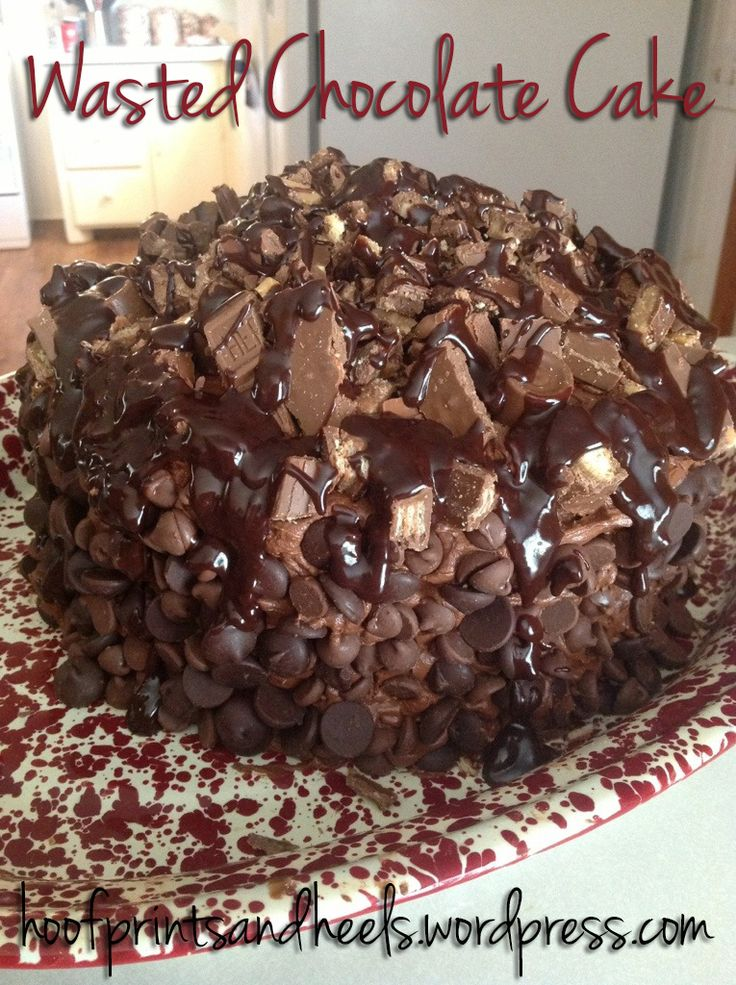 I've made this cake twice now and every time I post a picture there's tonsof responses! It definitely turns some heads. My friend, Courtney, says it'll rot your face off there's so much chocolate!...