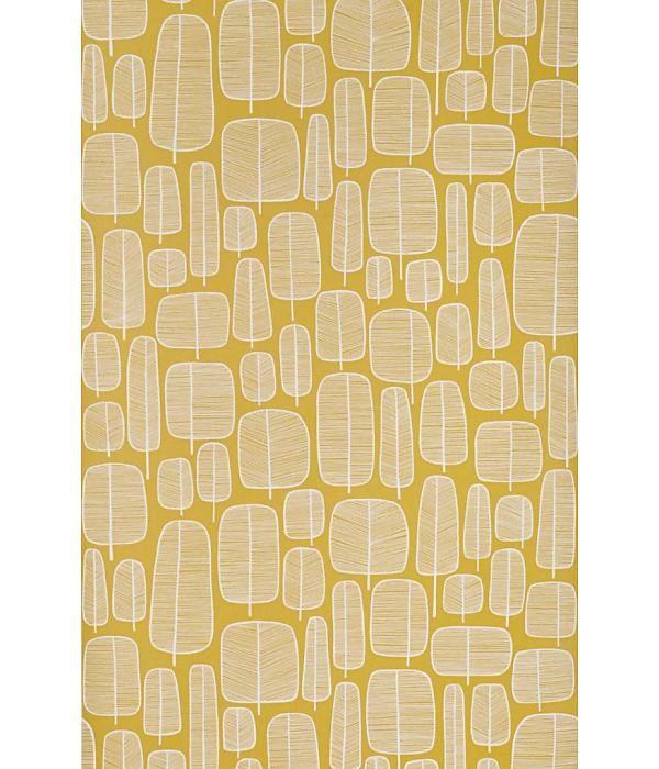 Miss-Print Behang Little Trees geel MISP1060 Behang 95 euro