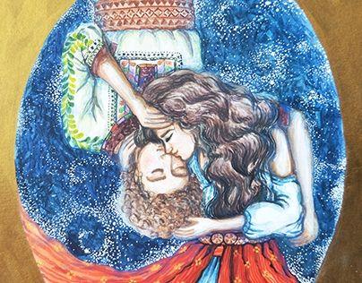 "Traditional romanian couple. Romanian fashion style.  Ie romaneasca. Romania @Behance portfolio: ""Romanian couple"" http://be.net/gallery/40953327/Romanian-couple"