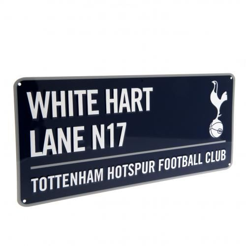 TOTTENHAM HOTSPUR White Hart Lane. Metal Street Sign in Navy. Approx 40 cm x 18 cm in size. Official Licensed Tottenham Hotspur merchandise. PRICE INCLUDES DELIVERY