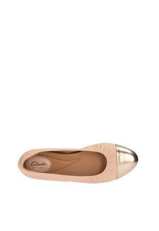 Pantofi bej de piele cu platforma wedge ascunsa Alitay Susan