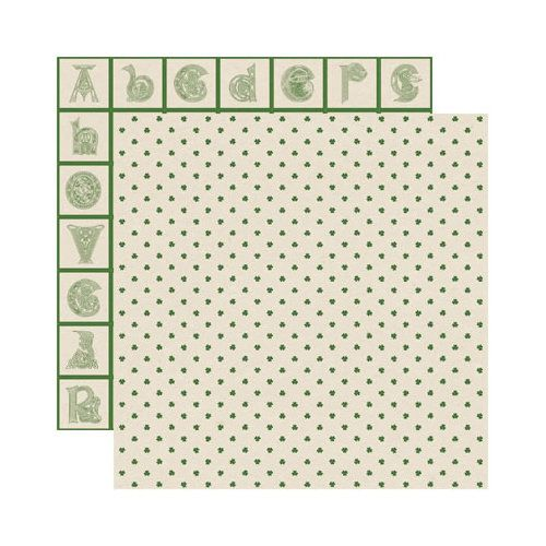 Reminisce - Shamrock Collection - 12 x 12 Double Sided Paper - Celtic Clover