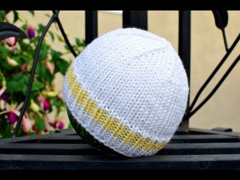 Easy and Basic Baby Hat! Free Knitting Pattern with How to Knit Step-by-Step Videos.