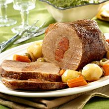 On the Cuban family table, a special meal would not be complete without Boliche, or Cuban-Style Stuffed Beef Roast. Try it with GOYA® Mojo Criollo.
