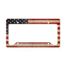 US Faded Flag License Plate Holder for