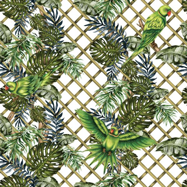 WILD PARAKEET Charlotte Jade's hand drawn pattern design. We believe in bringing the beauty of the outside world inside, with our hand drawn patterns for luxury interiors. WALLPAPER. CUSHIONS. UPHOLSTERY FABRICS. CERAMIC TILES