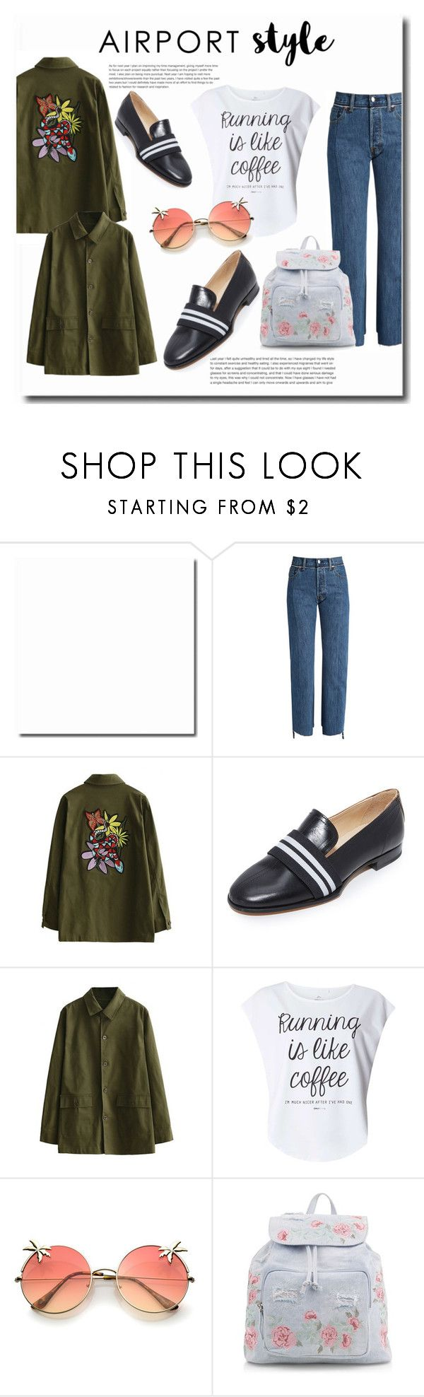 """Jet Set: Airport Style"" by spencer-hastings-5 on Polyvore featuring moda, Vetements, rag & bone, Dorothy Perkins, New Look i airportstyle"