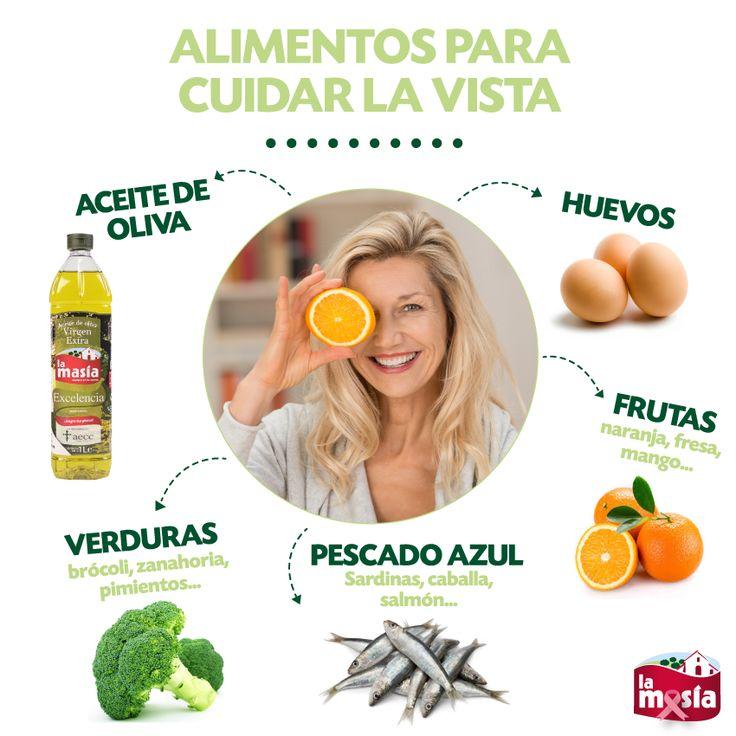 Cuida tu vista, también tomando estos alimentos. #trucosalud