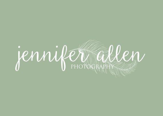 photography logo photographer logo feather by TwineAndLaceByLauren