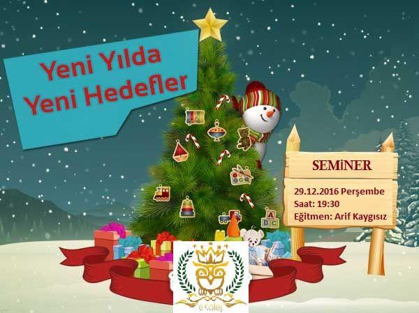 Yeni yılda,Yeni Hedefler.Haydi çocuklar,bu akşam sizi bu seminere bekliyoruz. http://www.ekolej.net/  Ücretsiz kayıt olun.Sizi de bekliyoruz