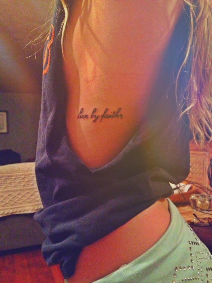 Live by faith tattoo