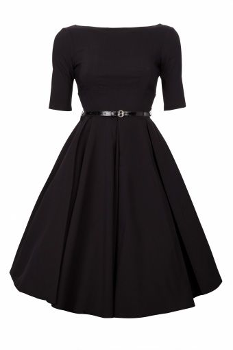 Full circle skirt accentuates the hourglass, explaining why this style is the epitome of femininity.