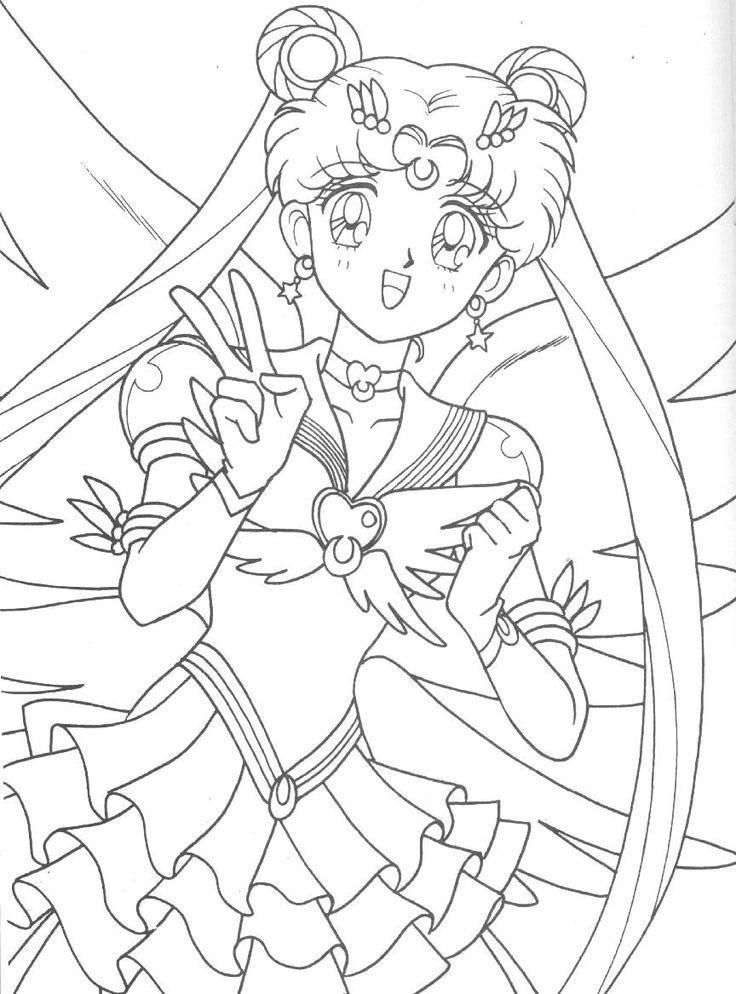 Eternal Sailor Moon Coloring Page // #sailormoon
