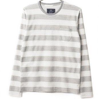 グレー XL (ジャックポート)JACK PORT ゆったり 美シルエット ボーダー Tシャツ メンズ 長袖 プルオーバ 胸ポケット カットソー トップス 長そで ボーダーティーシャツ マリンボーダー パネルボーダー ロンT ロングTシャツ 7分袖 7分 七分袖 七分 Uネック Vネック クルーネック ボートネック コットン ストレッチ メンズTシャツ Tシャツメンズ メンズカットソー カットソーメンズ 七分 カジュアル インナー ブランド オシャレ 白 S M L XL LL 春 夏 秋 冬 JKP20034007101