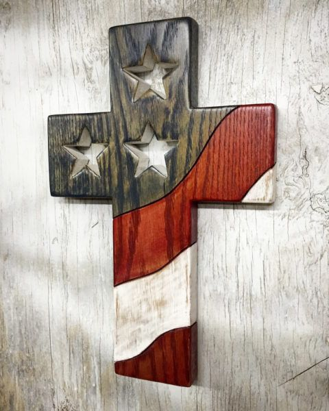 One Nation Under God - Patriotic US Cross