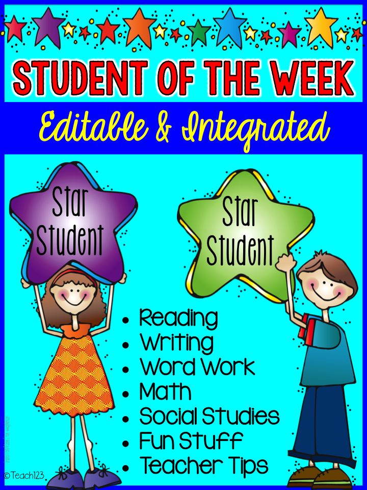 Editable and integrated Student of the Week - Star Student packet that includes non-fiction text feature activity.  paid