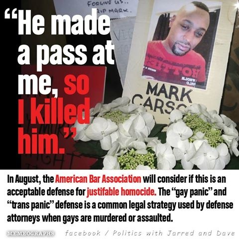 Just imagine the world if women could claim an unwanted sexual advance is grounds for justifiable homicide acquittal. It would probably look a lot different. Fuck all  of this.