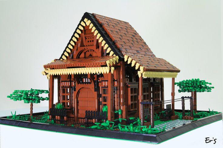 Les 34 meilleures images du tableau lego architecture for Architecture chinoise