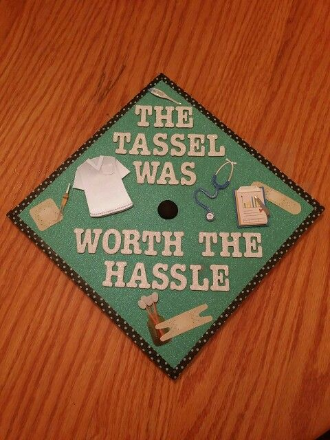 Medical graduation cap. The tassel was worth the hassle.