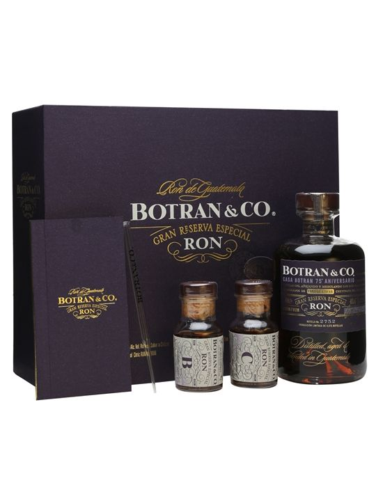 Botran Rum 75th Anniversary Set - 1x50cl + 2x5cl : The Whisky Exchange
