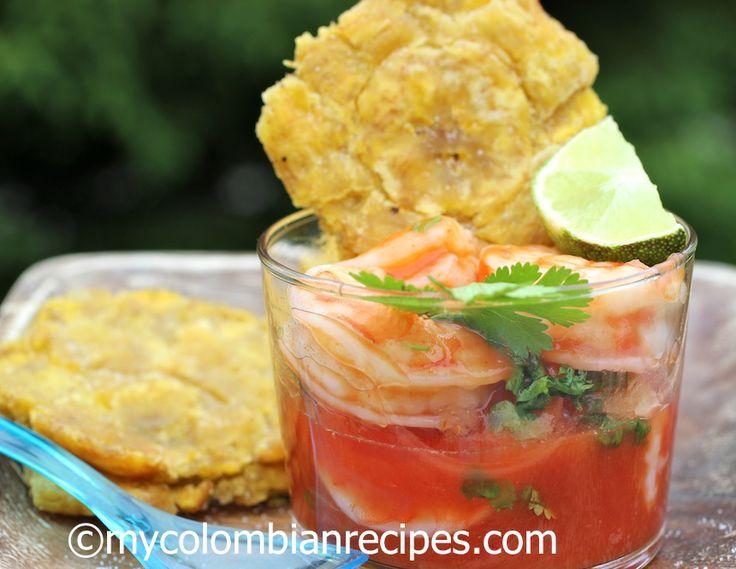 Receta de Ceviche de camarones Colombia