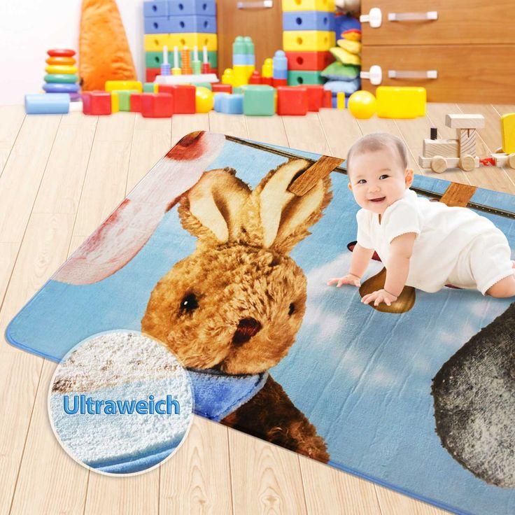 Perfect Spiel und Krabbeldecke Baby Kaninchen ultraweich schadstofffrei Dayton de