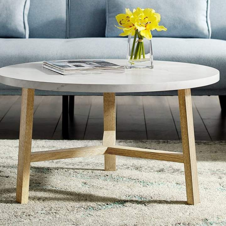 Zipcode Design Marisela Round Coffee Table Shop Now At Www Wallandroom Com Follow Us On Instagram Round Coffee Table Stone Coffee Table Coffee Table Wood
