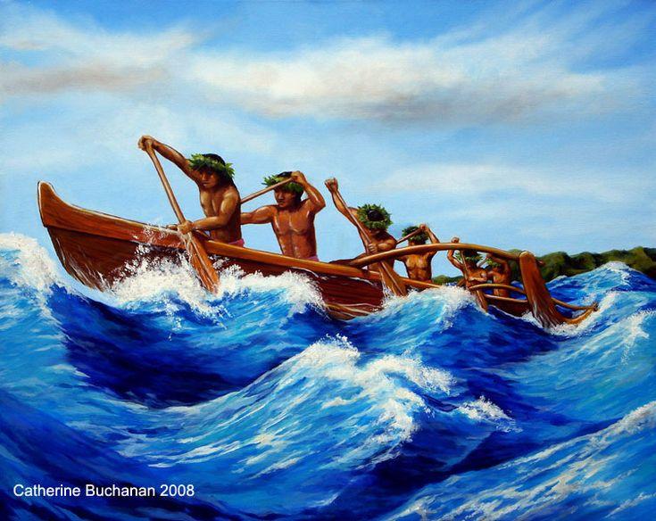C Lion Outrigger Canoe Polynesian Canoe by Ca...