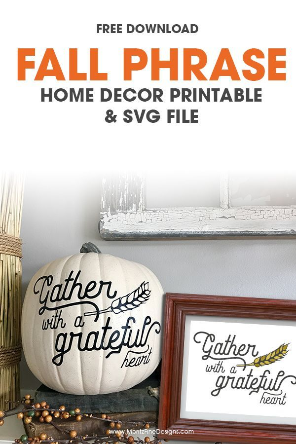 Fall Phrase Home Decor Fall Pinterest Cutting files, Free and Fall