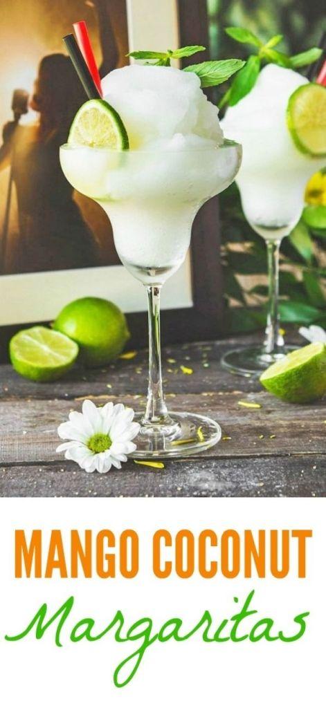 Frozen Mango Coconut Margarita Recipe