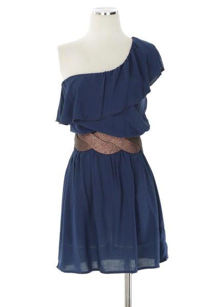 cute: Cowgirl Boots, Summer Dresses, Dreams Closet, One Shoulder Dresses, Blue Dresses, Cute Dresses, Navy Dress, Cowboys Boots, The Dresses