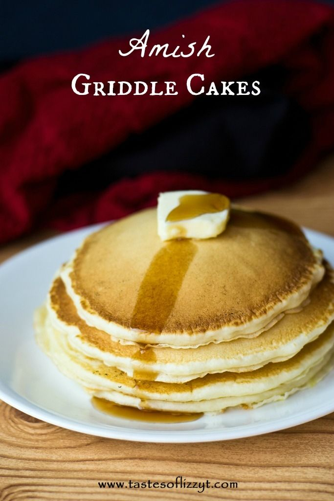 Amish Griddle Cakes {Tastes of Lizzy T}  Our basic pancake recipe...the BEST basic pancake recipe:) http://www.tastesoflizzyt.com/2013/08/16/amish-griddle-cakes/