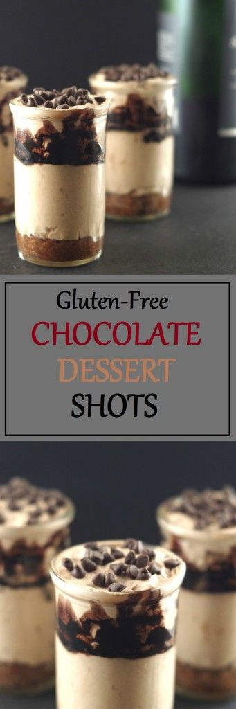 Swoon over these creamy, smooth Chocolate Dessert Shots by Gluten-Free Palate.